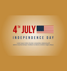 Collection stock independence day style banner vector