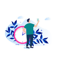 Concept time management vector