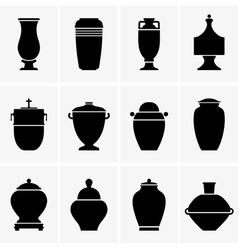 Cremation urn vector image