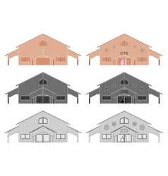 Ctg shed colored without outline vector