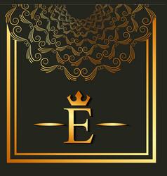 elegant and luxury font round frame decoration vector image