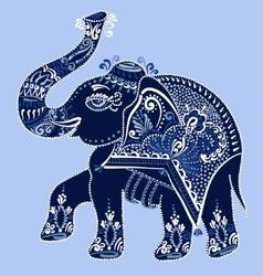 ethnic folk art indian elephant vector image