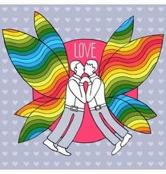 Gay Butterflies couple in suits vector image