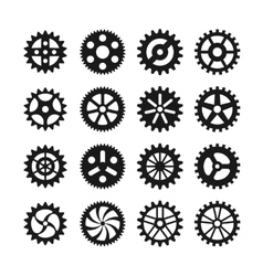 Gear wheels icons vector