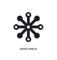 Gods shield isolated icon simple element from vector