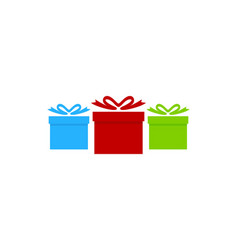 group gift logo icon design vector image