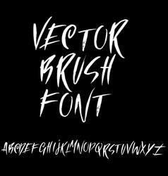grunge distress font modern dry brush ink letters vector image