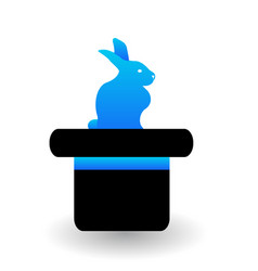 hat trick with rabbit icon vector image