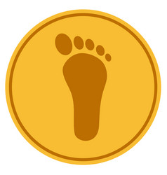 Human footprint coin vector