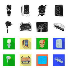 isolated object of electricity and electric icon vector image