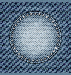 Jeans circle with spangles vector