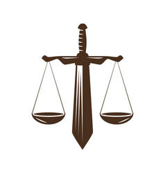 Justice judgment icon law office attorney vector
