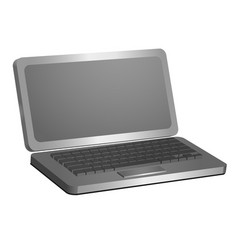 laptop 3d model for creativity and vector image