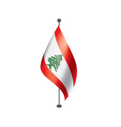 Lebanese flag on a white vector