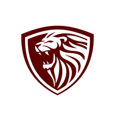 lion shield design inspiration vector image