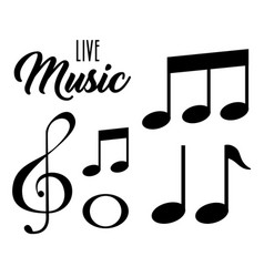 live music notes patern vector image