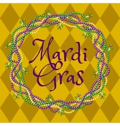 mardy gras yellow background vector image