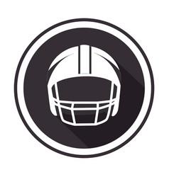 monochrome circular frame with american football vector image