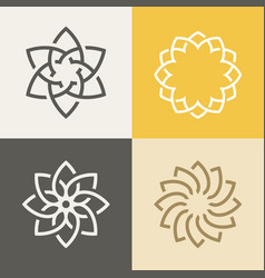 Monogram elegant logo icon design vector