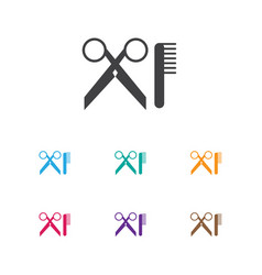 of hairdresser symbol on vector image