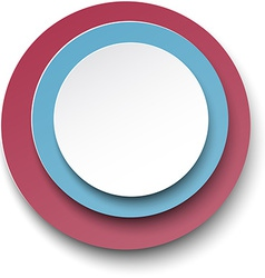 Paper white speech bubble round note vector image