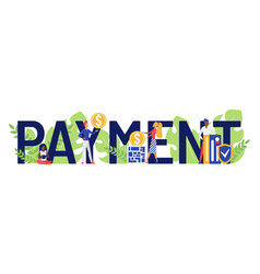 payment concept cartoon users customers people vector image