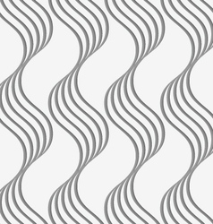 Perforated paper with vertical wavy stripes vector image