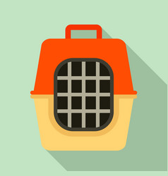 pet travel cage icon flat style vector image