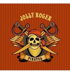 pirate emblem vector image vector image