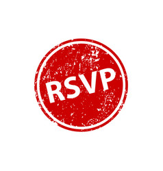 please respond stamp texture rsvp rubber cliche vector image