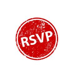 please respond stamp texture rsvp rubber cliche vector image