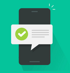 push notice notification message on mobile phone vector image