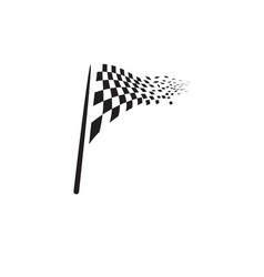 race flag icon design vector image