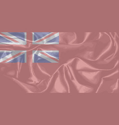 Red duster royal navy flag vector