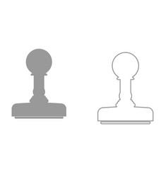 rubber stamps it is black icon vector image