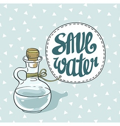 Save water eco card vector image