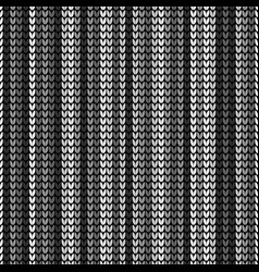 seamless black vertical knitting vector image