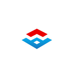 shape geometry business company logo vector image
