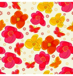 Simple seamless pattern with flowers and vector image
