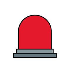siren or beacon icon image vector image