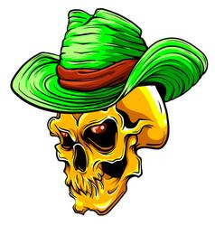 Skull pimp design art vector