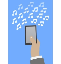 Smartphone in hand music vector