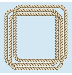 Square nautical brown ropes frame vector image
