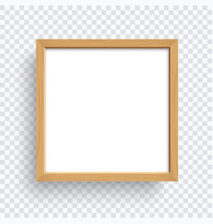 square wooden frame isolated on transparent vector image