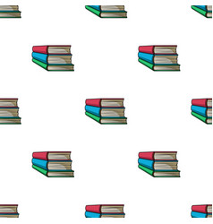 Stack of books icon in cartoon style isolated on vector