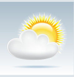 Sun with cloud floats in the sky vector