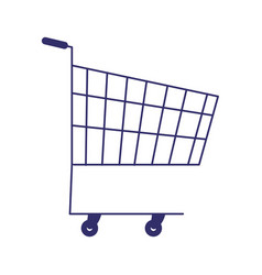 supermarket shopping cart commerce isolated design vector image