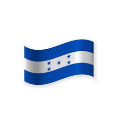 the flag of honduras vector image