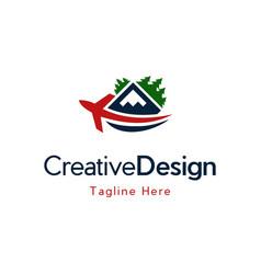 Travel vacation outdoors logo design vector