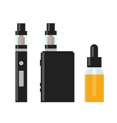 vaping device and accessory vector image